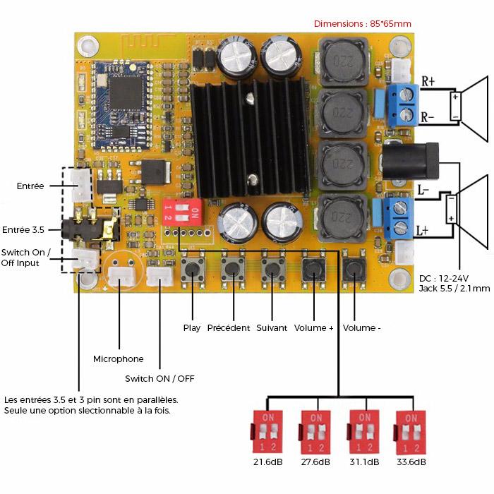 schema TDA7492 + CS8635