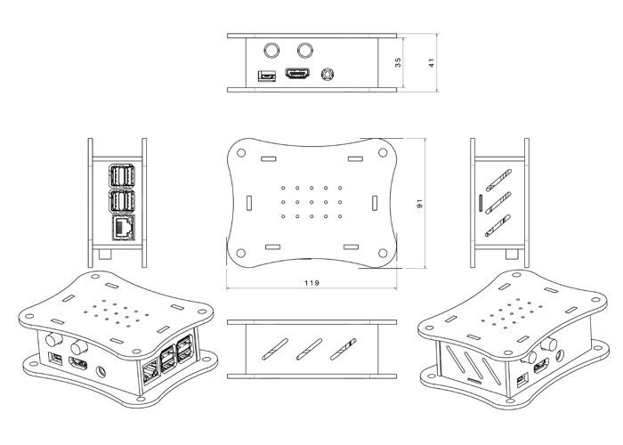 Schema Allo Acrylic Case