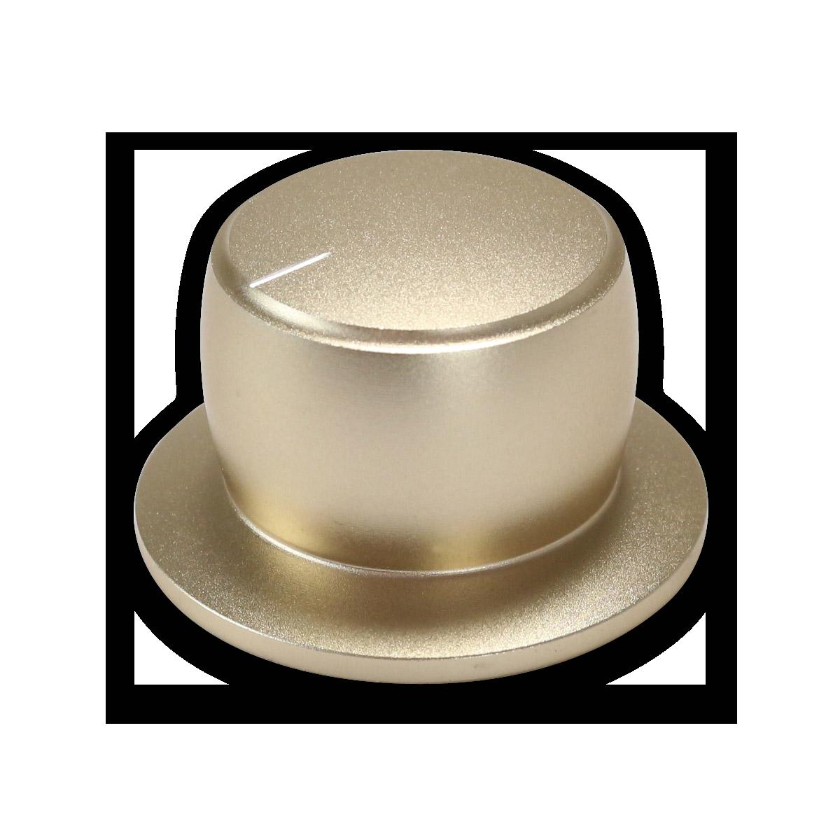 Bouton couleur or axe méplat
