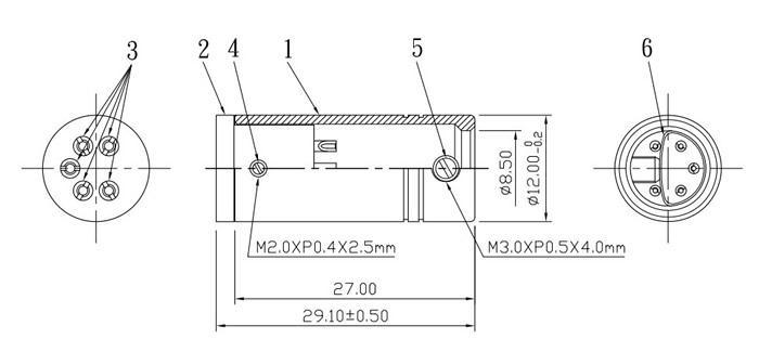 ELECAUDIO DIN-102 Connecteur DIN femelle 5 broches isolé PTFE