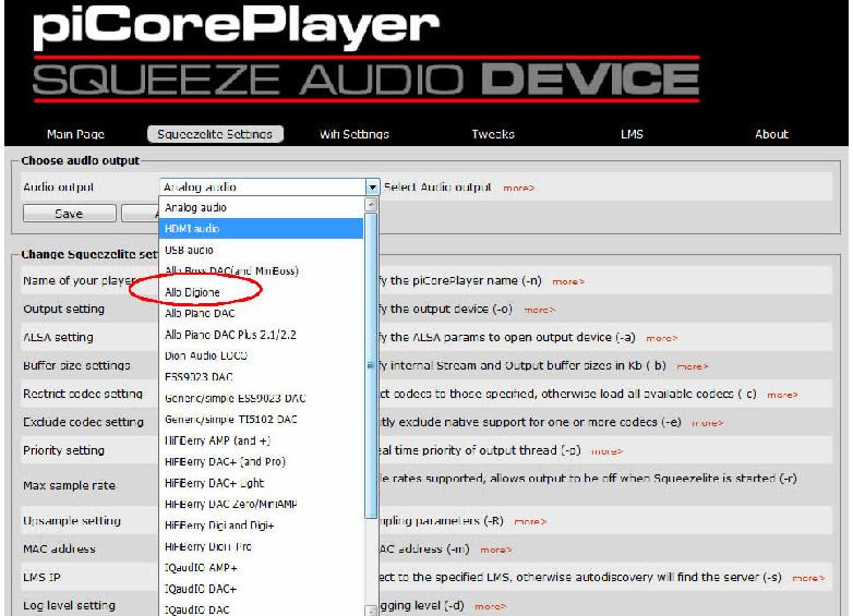 Digione compatible piCorePlayer