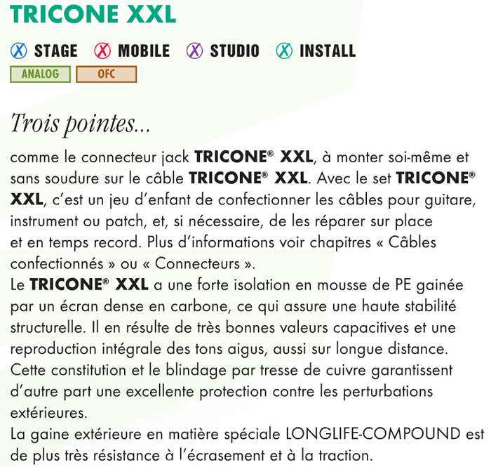 Sommercable TRICONE XXL